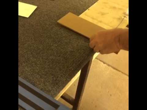 """Cutting 4"""" x 8"""" Subway Tiles out of Antique Mirror Glass"""