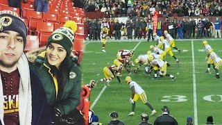 AARON RODGERS SITTING IN OUR SECTION!! Redskins vs Packers Sunday Night Game (Rematch)