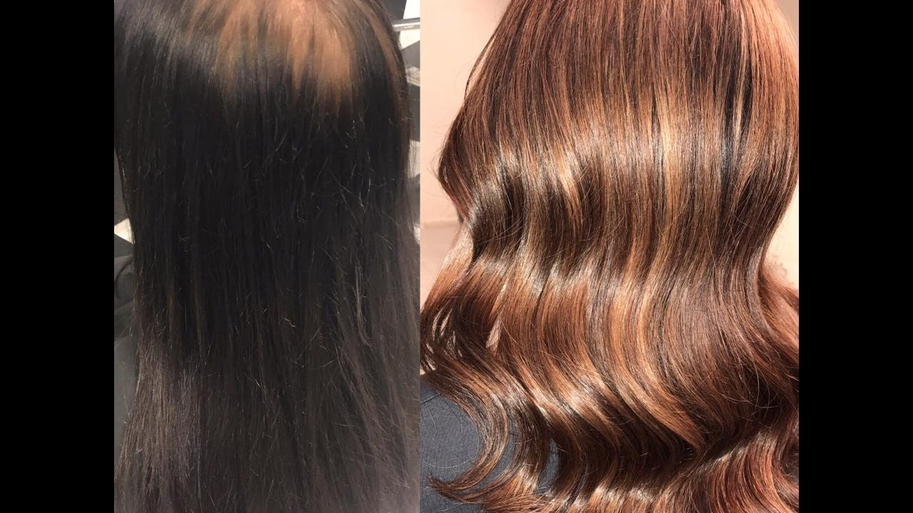 Dye Hair From Black To Chocolate Brown Hair Youtube