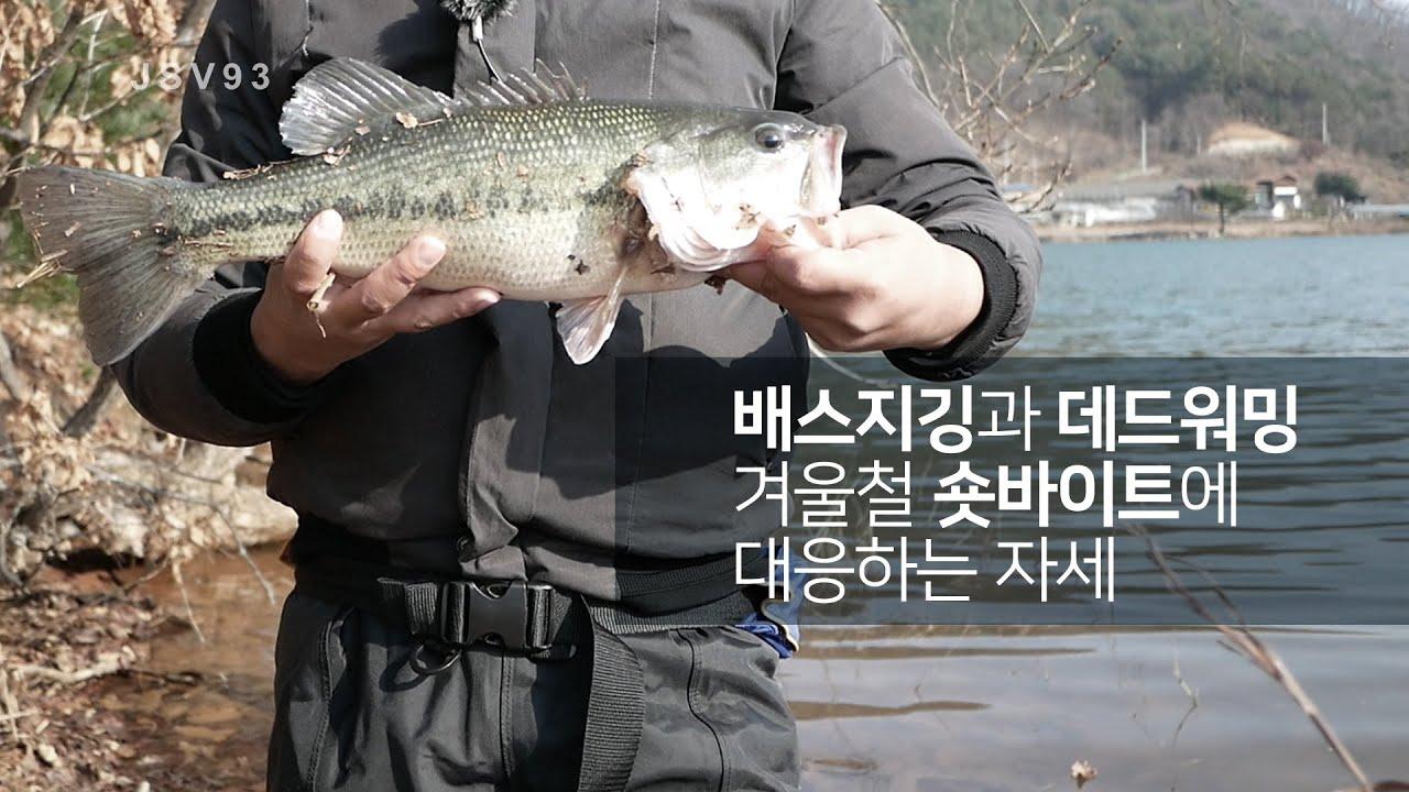 배스지깅과 웜낚시, 겨울철 숏바이트엔 오픈훅이 유리합니다, 겨울 배스-jsv93