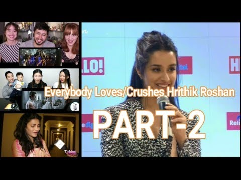 Everybody Loves/Crushes Hrithik Roshan  Part -2(Actrees,Youtubers, etc)