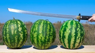EXPERIMENT: KATANA VS WATERMELON