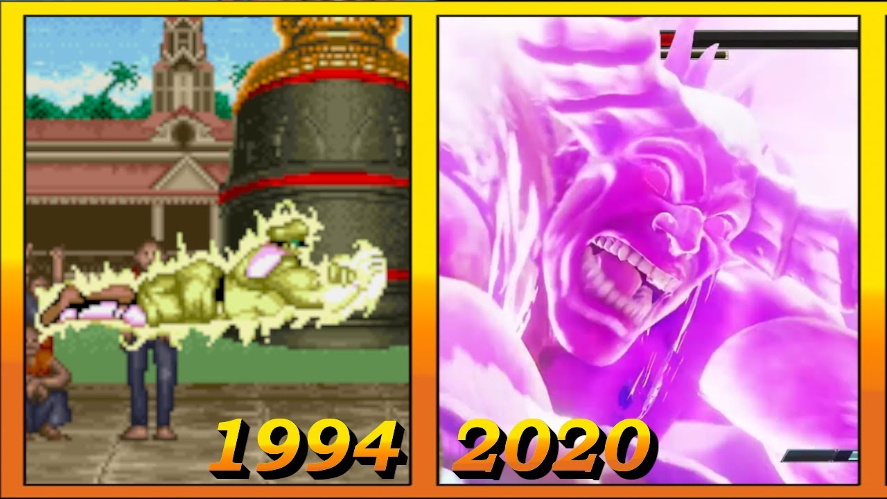 Evolution of M. Bison Super Moves (1994 - 2020)