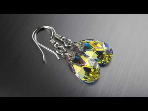 Jewellery created with crystals from Swarovski earings Crystal AB