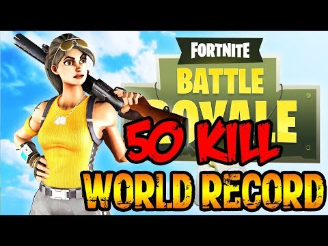 Fortnite - 50 Kill WORLD RECORD Squad Win Gameplay (PC) (Fortnite: Battle Royale)