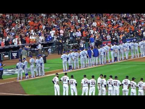 Houston Astros  World Series Lineups/Intros...Game 3 @ Minute Maid Park...10/27/17
