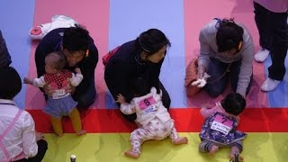601 babies in Japan crawl to Guinness World Record