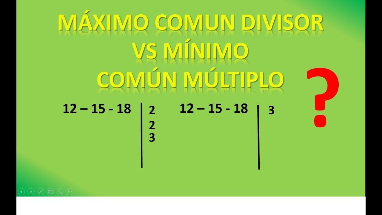 cual es el maximo comun divisor