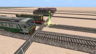 Гонка на поездах.Race on trains. Trainz Simulator 12