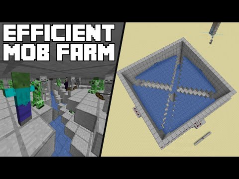 Minecraft Tutorial - Efficient Mob Farm (Java Edition 1.14/1.15)