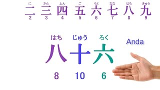"""Pelajaran bahasa Jepang 004 """"Pengucapan Angka01"""""""
