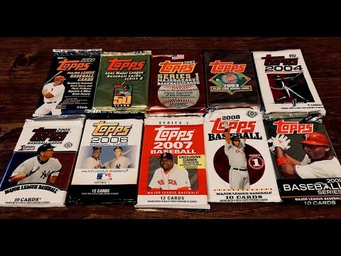 Ripping A Pack Of Topps For Every Year From 2000 Through 2009!
