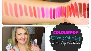 ★NEW ColourPop Ultra Matte Lips | 25 Lip Swatches★