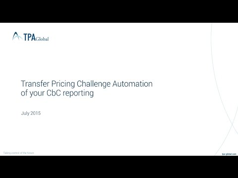 "The 2015 Transfer Pricing Challenge: automation of your ""country-by-country"" reporting"