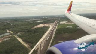 Southwest Airlines 737-7H4 [N776WN] - HOU Go-Around and Arrival -- UHD 4K