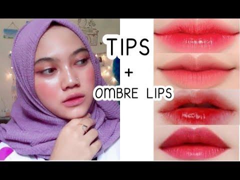 cara-ombre-lips-untuk-bibir-yang-hitam-|-4-look-ombre-lipstik