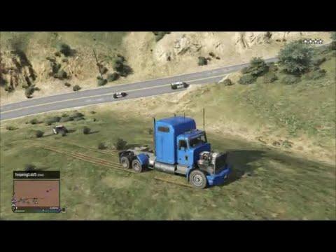 Big Rig Benny Hill Police Chase - GTA 5