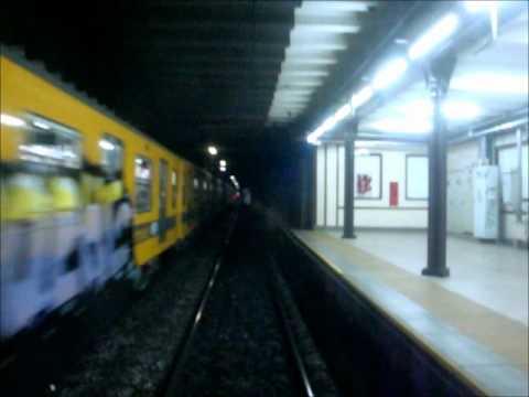 The Subway in Buenos Aires, Argentina. Subte Linea A, Recorrido Completo.