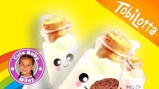 DIY Kawaii Milchflasche als Anhänger selber machen basteln | milk bottle | Tobilotta & CuteBabyMiley