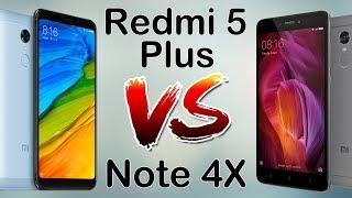 Xiaomi Redmi 5 Plus VS Redmi Note 4X сравнение производительности, камер, игры.