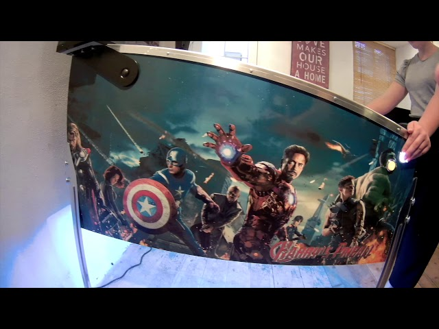 Custom Made 4 Screen Avengers Virtual Pinball Machine by Dave TechGuy
