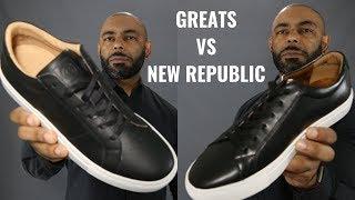 Greats Royale Vs New Republic Kurt/ Most Stylish Affordable Black Sneaker