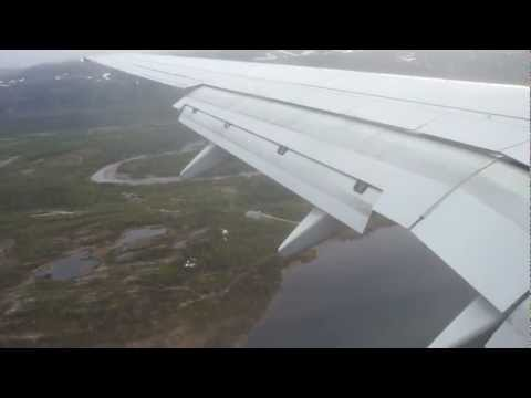 SAS Boeing 737-600 landing at Lakselv (diverted flight Oslo-Kirkenes)