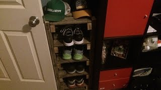 How to make a shoe rack from a pallet
