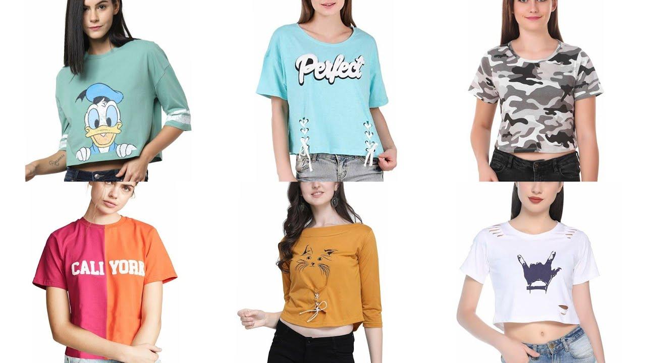 Summer क Girls T Shirts Collection 2020 Stylish Jeans T Shirt Design ब स ट Fancy T Shirt ड ज इन स Youtube