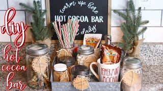 Utube 2021 Christmas Coffee Cicoa Bar Easy Diy Hot Cocoa Bar Setup Winter Christmas Hot Chocolate Station Youtube