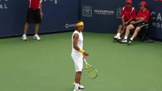 Rafael Nadal at Rogers Cup Montreal 09 (HD)