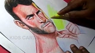 How to Draw WWE Superstar,MMA fighter,UFC Fighter Cm punk Color Drawing