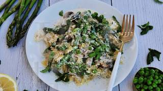 Dinner Recipe: EASY Creamy Spring Pasta by Everyday Gourmet with Blakely