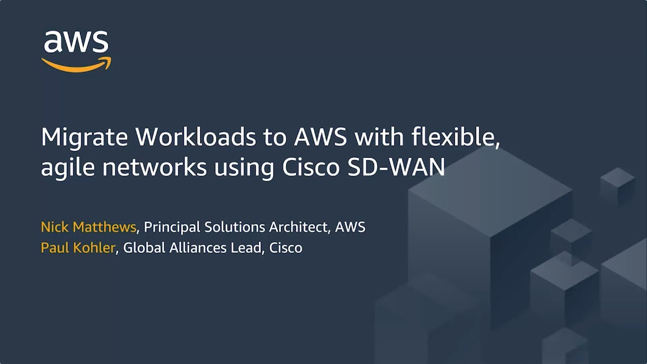 Migrate Workloads To Aws With Flexible Agile Networks Using Cisco Sd Wan Youtube