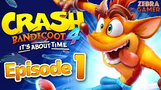 Crash Bandicoot 4: It's About Time Gameplay Walkthrough Part 1 - N. Sanity Island 100%!