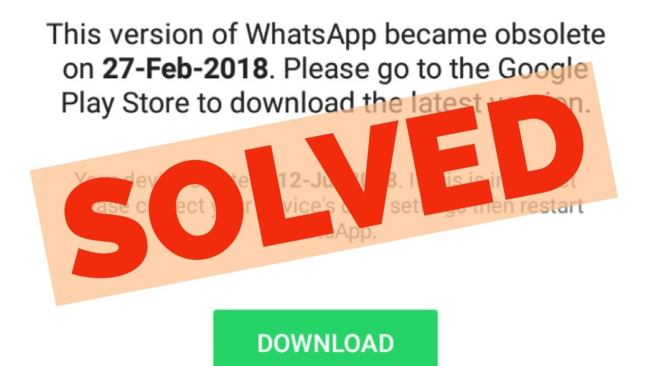 Fix This Version Of WhatsApp Became Obsolete Error On Android||Tablet