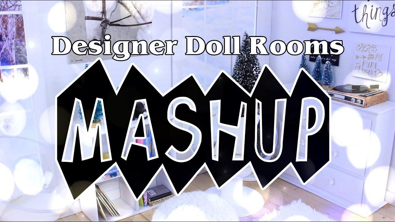 Mash Ups: Designer Doll Room Crafts | Galaxy Room | TUMBLR Room | Unicorn Room & more