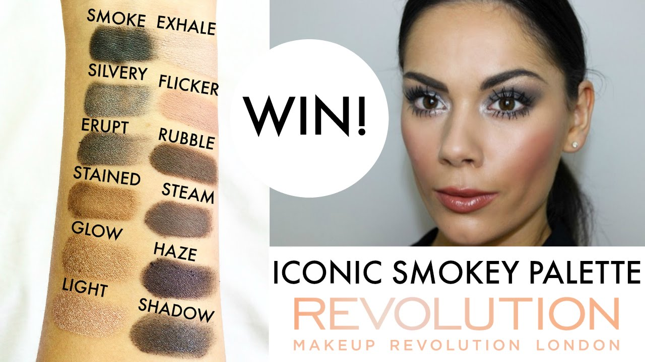 video Makeup Revolution Iconic Smokey Palette Oogschaduw