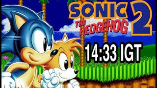 Sonic the Hedgehog 2 - Sonic speedrun in 14:33 IGT [World Record]