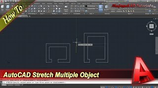 Autocad How To Stretch Multiple Objects