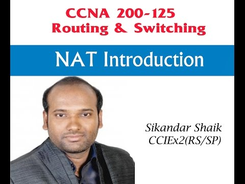 NAT Introduction - Video By Sikandar Shaik    Dual CCIE (RS/SP) # 35012
