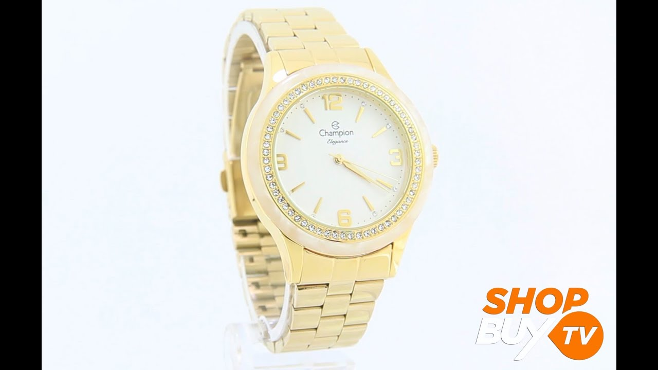 40f9d67d79f Relógio Champion Elegance CN27241H - ShopBuy - YouTube