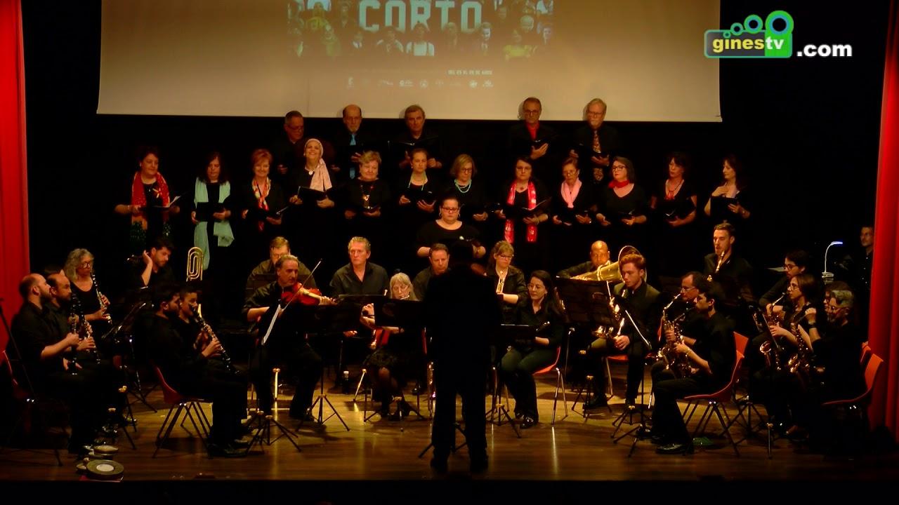 Concierto de la Banda Municipal y la Coral Polifónica en 'Gines en Corto 2019' (COMPLETO)