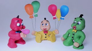 LEARN COLORS WITH BALLOONS -In- Green Yellow and Red Superhero Babies Cartoons For Kids