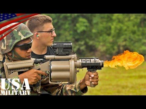 ショットガン&M32・M203グレネードランチャー射撃訓練(米海兵隊&マレーシア軍) - Shotgun