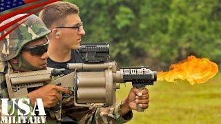 ショットガン・M203グレネードランチャー射撃訓練(米海兵隊&マレーシア軍) - Shotgun & M32, M203 Grenade Launcher  Live Fire