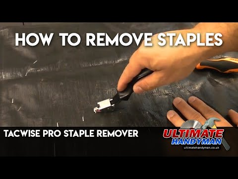 How to remove staples | Tacwise pro staple remover