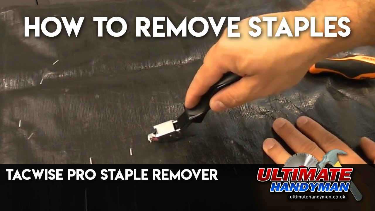 How To Remove Staples Tacwise Pro Staple Remover Youtube