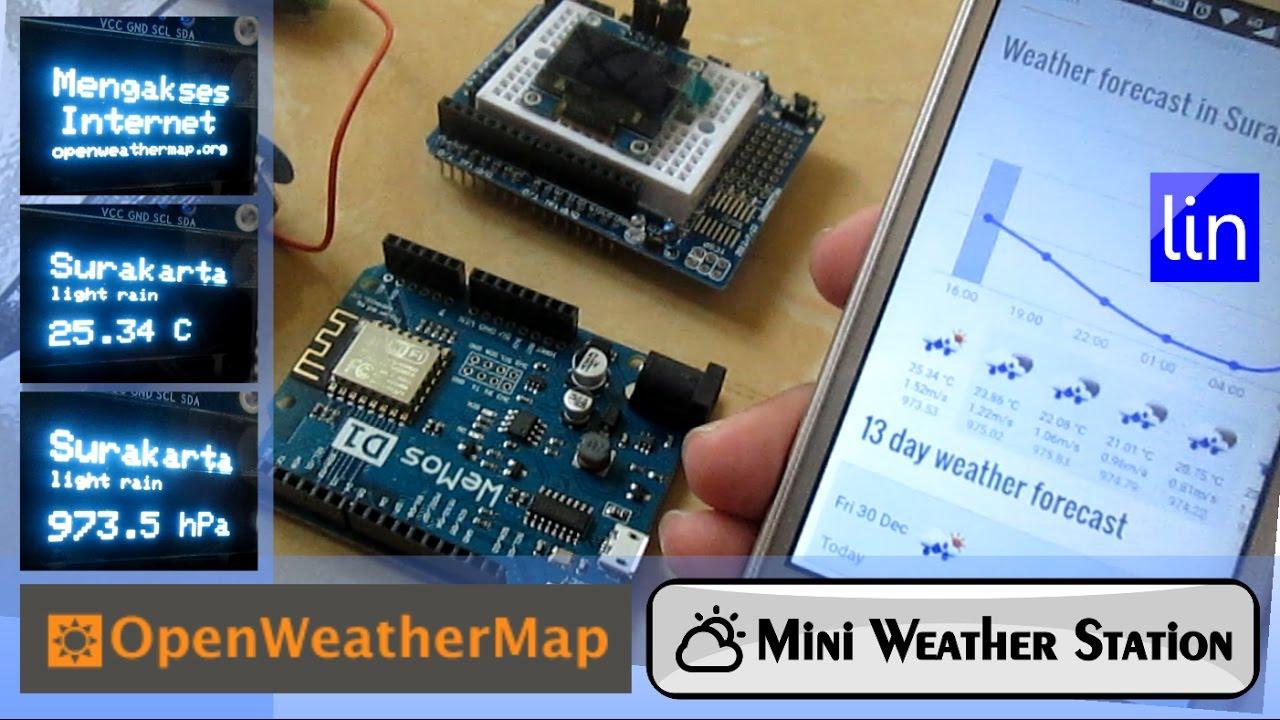 Mini iot weather station with wemos d esp
