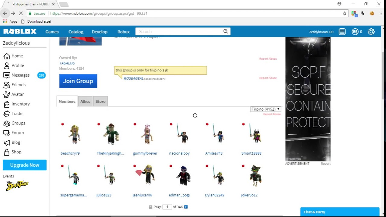 Roblox Group Finder Bot